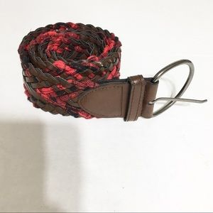 Black and Red Plaid Belt/Size 5